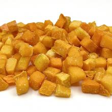 Frozen pumpkin dices, semi-dry, 12x12mm, iqf, Europe, Andreas Wendt GmbH